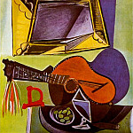 1942 Nature morte Е la guitare, Pablo Picasso (1881-1973) Period of creation: 1931-1942