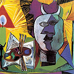 1938 Bougie, palette, tИte de Minotaure, Pablo Picasso (1881-1973) Period of creation: 1931-1942