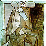1942 Femme assise, Pablo Picasso (1881-1973) Period of creation: 1931-1942