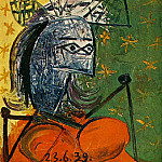 1939 Femme assise au chapeau 4, Pablo Picasso (1881-1973) Period of creation: 1931-1942