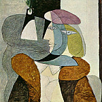 1937 Portrait de femme au bВret1, Pablo Picasso (1881-1973) Period of creation: 1931-1942