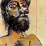 1937 TИte dhomme barbu, Pablo Picasso (1881-1973) Period of creation: 1931-1942
