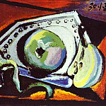 1938 Nature morte Е la pomme, Pablo Picasso (1881-1973) Period of creation: 1931-1942