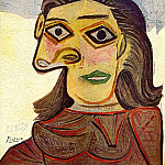 1939 TИte de femme 4, Pablo Picasso (1881-1973) Period of creation: 1931-1942