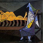 1942 Laubade [La sВrВnade; Nu couchВ et musicienne assise], Pablo Picasso (1881-1973) Period of creation: 1931-1942