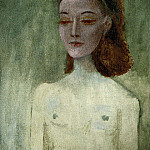 Pablo Picasso (1881-1973) Period of creation: 1931-1942 - 1941 Madame Paul Eluard [Portrait de Nusch]