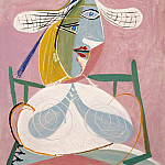 Pablo Picasso (1881-1973) Period of creation: 1931-1942 - 1938 Femme assise au chapeau de paille