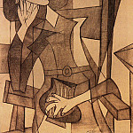 1938 Femme assise accoudВe , Пабло Пикассо (1881-1973) Период: 1931-1942