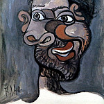 1940 TИte dun homme barbu, Pablo Picasso (1881-1973) Period of creation: 1931-1942