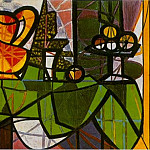 Pablo Picasso (1881-1973) Period of creation: 1931-1942 - 1931 Pichet et coupe de fruits