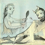 Pablo Picasso (1881-1973) Period of creation: 1931-1942 - 1938 Faune blessВ et femme