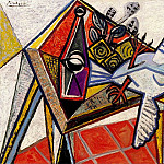 Pablo Picasso (1881-1973) Period of creation: 1931-1942 - 1941 Nature morte avec pigeon