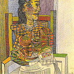 Pablo Picasso (1881-1973) Period of creation: 1931-1942 - 1938 Portrait de Dora Maar assise 1