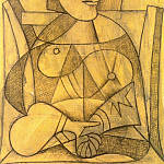 1938 Femme aux mains jointes, Pablo Picasso (1881-1973) Period of creation: 1931-1942