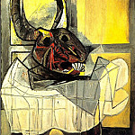 Pablo Picasso (1881-1973) Period of creation: 1931-1942 - 1942 TИte de taureau sur une table