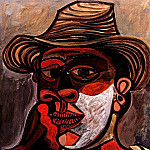 1938 Homme au gant rouge, Pablo Picasso (1881-1973) Period of creation: 1931-1942