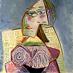 Pablo Picasso (1881-1973) Period of creation: 1931-1942 - 1939 Buste de femme en costume violet