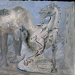 Pablo Picasso (1881-1973) Period of creation: 1931-1942 - 1936 Faune, cheval et oiseau