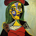 Pablo Picasso (1881-1973) Period of creation: 1931-1942 - 1937 Femme au chapeau et col en fourrure