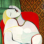 1932 Le rИve, Pablo Picasso (1881-1973) Period of creation: 1931-1942