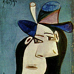 Pablo Picasso (1881-1973) Period of creation: 1931-1942 - 1939 Buste de femme au chapeau 2