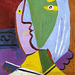 1934 Femme au bВret, Pablo Picasso (1881-1973) Period of creation: 1931-1942
