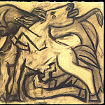 1934 Cheval et taureau, Pablo Picasso (1881-1973) Period of creation: 1931-1942