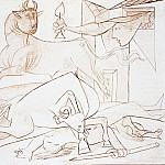 Pablo Picasso (1881-1973) Period of creation: 1931-1942 - 1937 Guernica V [Рtude]
