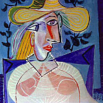 Pablo Picasso (1881-1973) Period of creation: 1931-1942 - 1938 Femme Е la collerette