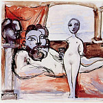 Pablo Picasso (1881-1973) Period of creation: 1931-1942 - 1933 Le repos du sculpteur