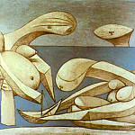 1937 La baignade, Pablo Picasso (1881-1973) Period of creation: 1931-1942