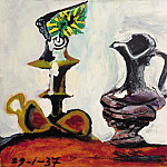 1937 Nature morte Е la bougie l, Pablo Picasso (1881-1973) Period of creation: 1931-1942