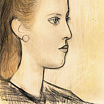 Pablo Picasso (1881-1973) Period of creation: 1931-1942 - 1941 Portrait de Mademoiselle Aubrey