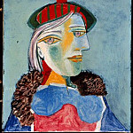 Pablo Picasso (1881-1973) Period of creation: 1931-1942 - 1937 Portrait de femme au bВret 3