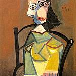 1942 Femme Е chapeau assise dans un fauteuil, Pablo Picasso (1881-1973) Period of creation: 1931-1942