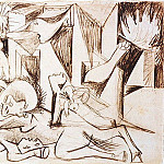 Pablo Picasso (1881-1973) Period of creation: 1931-1942 - 1937 Guernica [Рtude] II