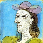1938 Buste de femme au chapeau, Pablo Picasso (1881-1973) Period of creation: 1931-1942