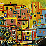 1937 Maisons, Pablo Picasso (1881-1973) Period of creation: 1931-1942