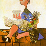 1938 Femme au coq, Pablo Picasso (1881-1973) Period of creation: 1931-1942