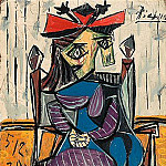 1939 Femme assise 2, Pablo Picasso (1881-1973) Period of creation: 1931-1942