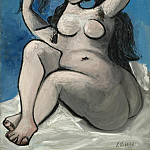 Pablo Picasso (1881-1973) Period of creation: 1931-1942 - 1939 Nu assis sur bleu