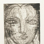 Pablo Picasso (1881-1973) Period of creation: 1931-1942 - 1934 TИte de face (Portrait de Marie-ThВrКse de face)