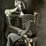 1939 Homme assis au tricot rayВ, Pablo Picasso (1881-1973) Period of creation: 1931-1942