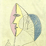 1936 Portrait de jeune fille, Pablo Picasso (1881-1973) Period of creation: 1931-1942