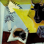 1938 Nature morte Е la tИte de taureau noir, Pablo Picasso (1881-1973) Period of creation: 1931-1942