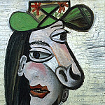 Pablo Picasso (1881-1973) Period of creation: 1931-1942 - 1941 Femme au chapeau vert et broche