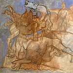 1936 Minotaure blessВ, cheval et personnages, Pablo Picasso (1881-1973) Period of creation: 1931-1942