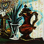 1937 Nature morte Е la bougie, Pablo Picasso (1881-1973) Period of creation: 1931-1942