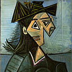1942 Buste de femme au chapeau Е fleurs, Pablo Picasso (1881-1973) Period of creation: 1931-1942