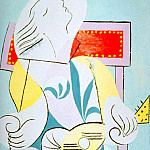 Pablo Picasso (1881-1973) Period of creation: 1931-1942 - 1932 Jeune fille Е la guitare